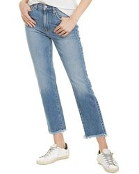 7 For All Mankind 7 For All Mankind Alpine Dr. High-rise Cropped Straight Leg Jean - Blue