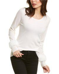 Forte Scoop Cashmere Sweater - White