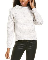 Cece By Cynthia Steffe Speckled Sweater - White