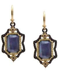 Armenta - Old World 18k & Silver 13.38 Ct. Tw. Diamond & Blue Gemstone Drop Earrings - Lyst