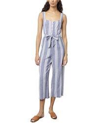 Rails Kyra Linen-blend Jumpsuit - Blue