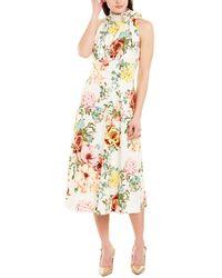 Donna Ricco Midi Dress - White