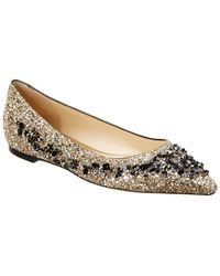 Jimmy Choo Romy Sequin-embroidered Flat - Metallic