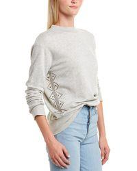 Monrow Stud Motif Sweatshirt - Gray