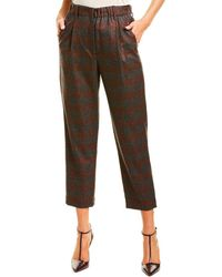 Brunello Cucinelli Wool-blend Pant - Brown
