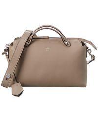 Fendi By The Way Medium Leather Shoulder Bag - Brown