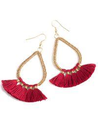 Shiraleah Rosalie Earrings - Red