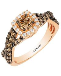 Le Vian ? Chocolatier? 14k Strawberry Gold? 1.11 Ct. Tw. Diamond Ring - Metallic