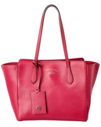 Gucci Pink Leather Swing Tote