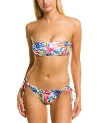 Katrin Bandeau Bikini Set - Blue