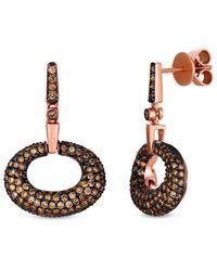 Le Vian ? Chocolatier? 14k Strawberry Gold? 1.52 Ct. Tw. Diamond Earrings - Multicolour