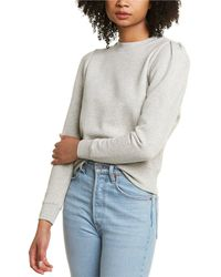 Pam & Gela Puff Sleeve Sweatshirt - Grey