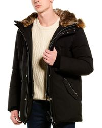 Mackage Edward Luxe Down Leather-trim Coat - Black