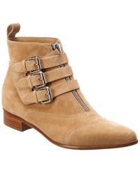 Tabitha Simmons Early Suede Bootie - Natural