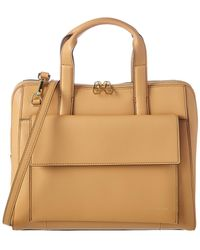 8655ee46ea45 BCBGMAXAZRIA - Parker Convertible Leather Tote - Lyst