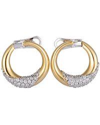 Damiani - 18k Two-tone 0.84 Ct. Tw. Diamond Earrings - Lyst
