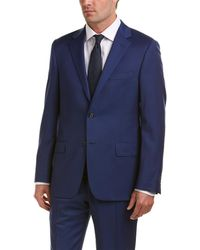 Hickey Freeman - Milburn Ii Wool Suit With Flat Pant - Lyst