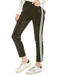 Rag & Bone Ankle Leather Cigarette W/ Stripe - Black