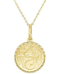 Sabrina Designs - 14k Zodiac Capricorn Necklace - Lyst