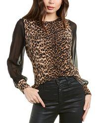 Vince Camuto Leopard Spots Top - Black