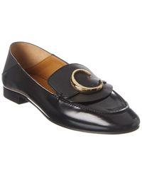 Chloé C Leather Loafer - Black