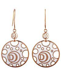 Damiani 18k Rose Gold Diamond Earrings - Metallic