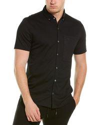Karl Lagerfeld Alphabet Print Button-down Shirt - Black