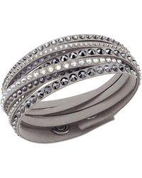 Swarovski - Palladium Crystal Bracelet - Lyst