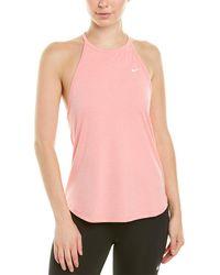 Nike Dry Elastika Stripe Tank - Pink