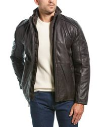 Marc New York Hartz Leather Jacket - Brown