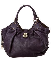 Louis Vuitton Purple Mahina Leather Large Hobo