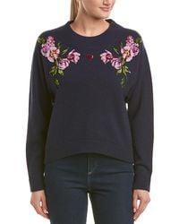 Dolce & Gabbana Flower Knit Jumper - Blue