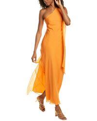 Ronny Kobo Jackie Silk Dress - Orange