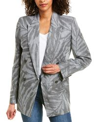 Michael Kors Linen Blazer - Grey