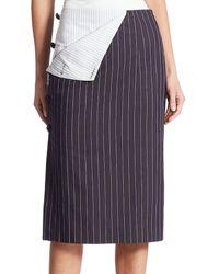 Monse Pinstripe Pencil Skirt - Multicolour