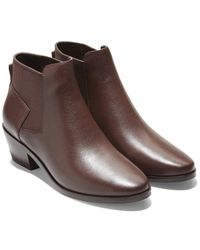 Cole Haan Gia Leather Bootie - Brown