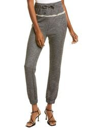 Kendall + Kylie Distressed JOGGER - Black