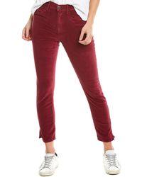 3x1 W3 Merlot Velvet Straight Crop - Red