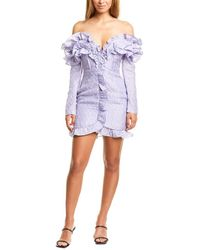 ATOIR Words Can Promise Silk-blend Cocktail Dress - Purple
