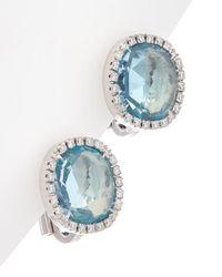 Marco Bicego Jaipur 18k 0.30 Ct. Tw. Diamond & Blue Topaz Studs