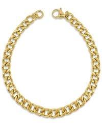 Adornia 14k Plated Cuban Chain Bracelet - Metallic