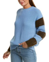 Chinti & Parker Contrast Sleeve Alpaca-blend Sweater - Blue