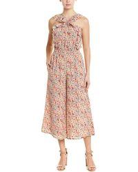 Rebecca Taylor Margo Floral Silk-blend Jumpsuit - Pink