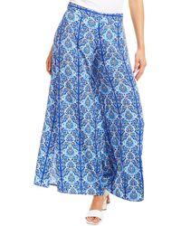Paolita Printed Wide Leg Trouser - Blue