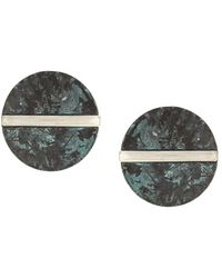 Sparkling Sage - Silver Plated Studs - Lyst