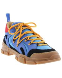 French Connection Beauregard Leather-trim Fashion Hiker - Blue