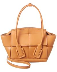 Bottega Veneta Arco Mini Leather Tote - Brown