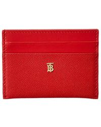 Burberry Sandon Card Holder - Red