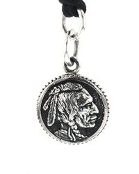 King Baby Studio Silver Chief Concho Pendant Necklace - Metallic