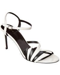 Celine Sharp Leather Sandal - White